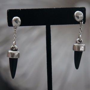 NEW Uno de 50 Black Horn Dangle Earrings